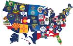 American Made US State Flags